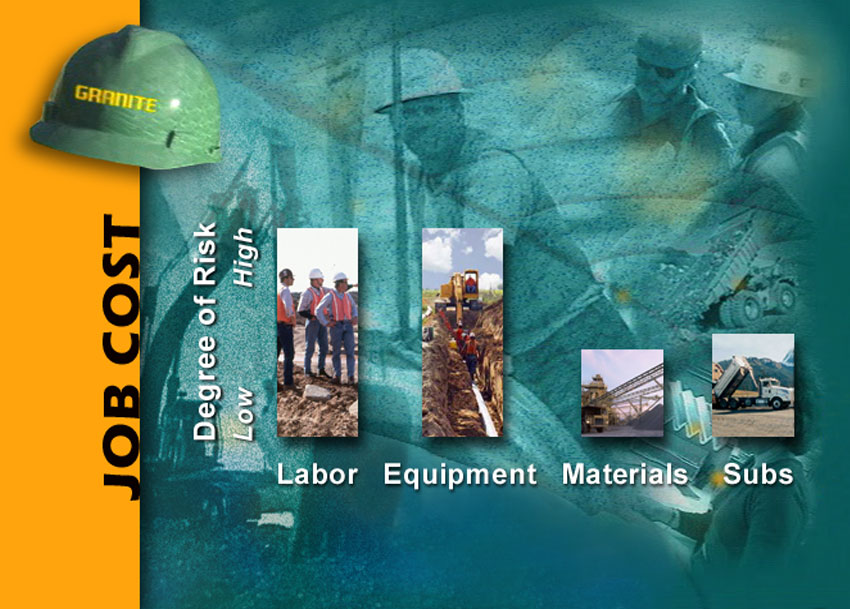 Multiple image layers to create a composite Powerpoint slide for Granite Construction