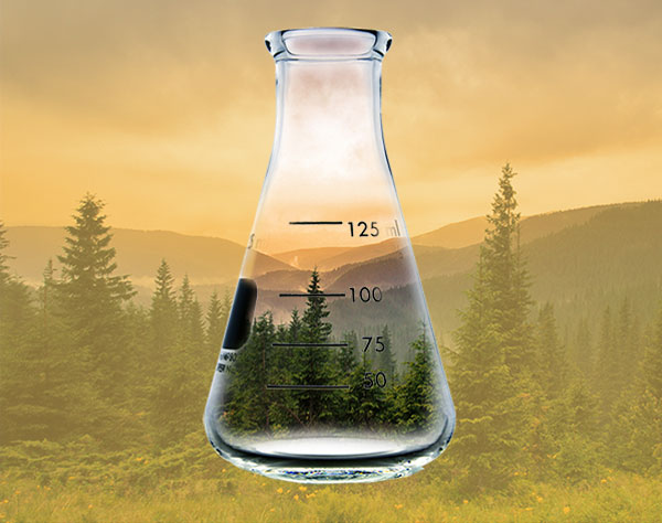 Two images combined to create a composite image for an environmental advertisement